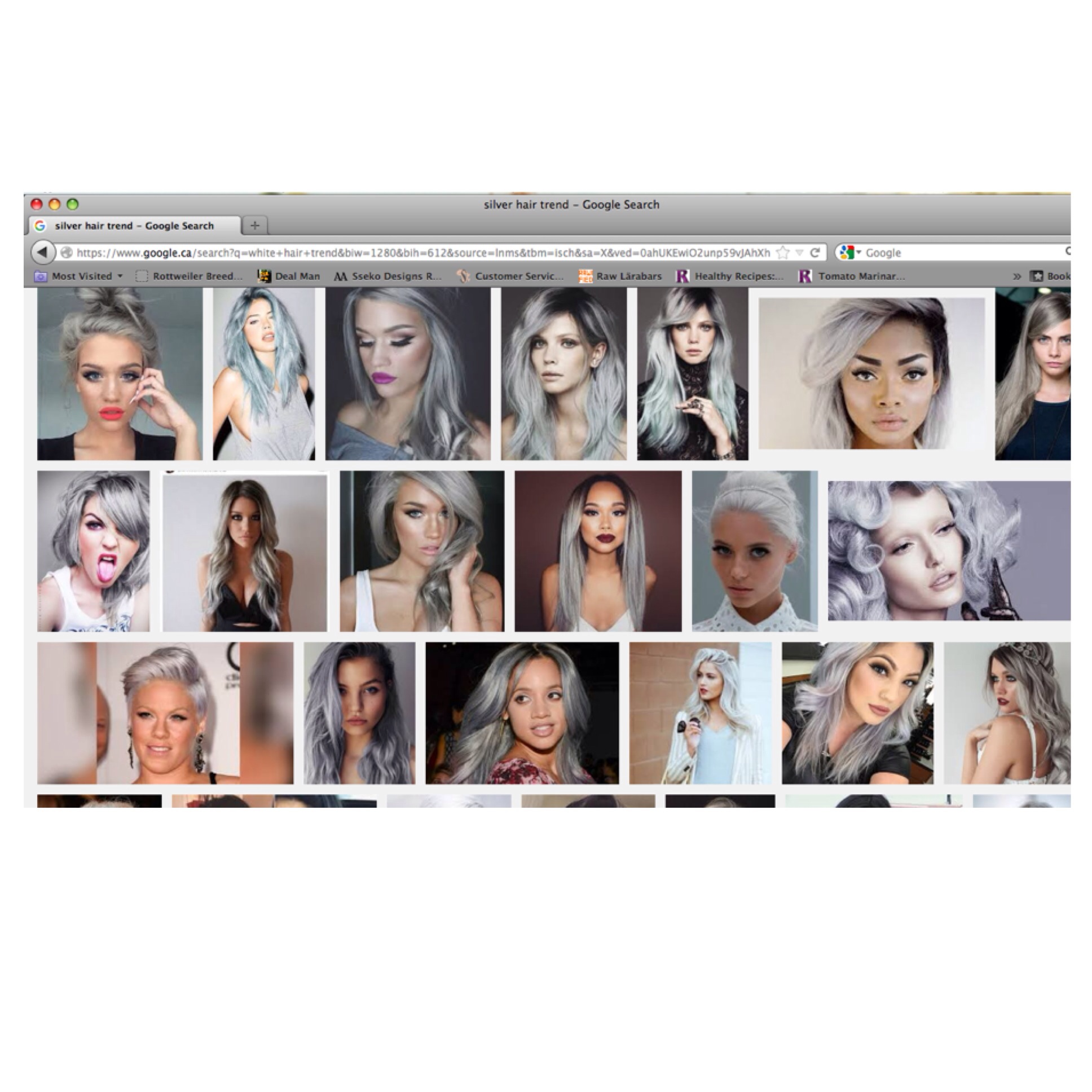 silver hair trends